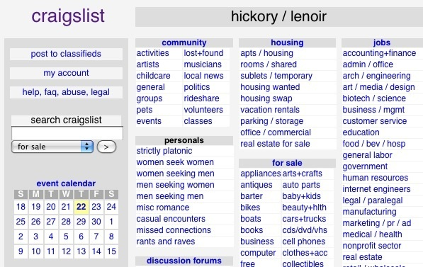 hickory business craigslist autos post